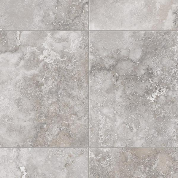 Travertine Grey Stone Residential Vinyl Sheet Flooring 12ft. Wide x Cut to Length