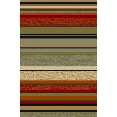 Hamam Collection Multi-Colored 5 ft. x 7 ft. Area Rug