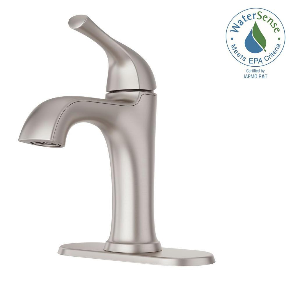 Pfister Ladera 4 in. Centerset Single-Handle Bathroom Faucet in Spot ...