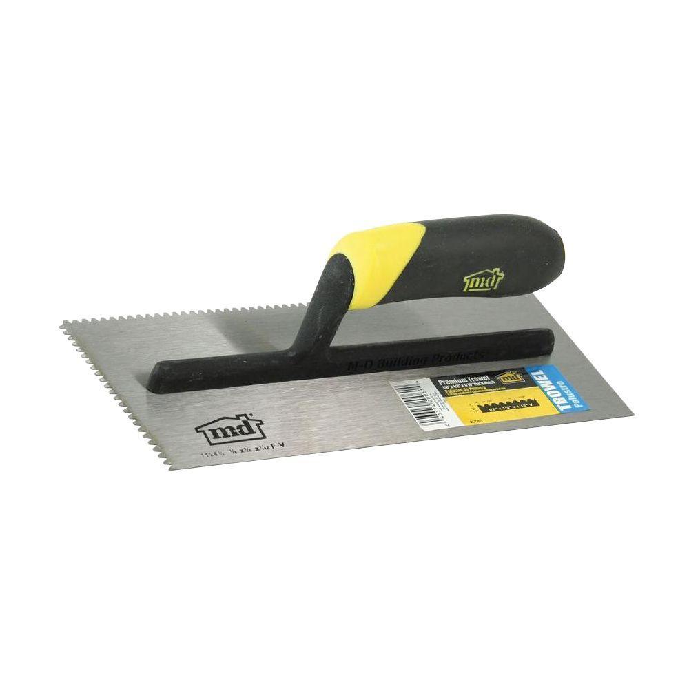 11 in. Flat V-Notch Flooring Trowel