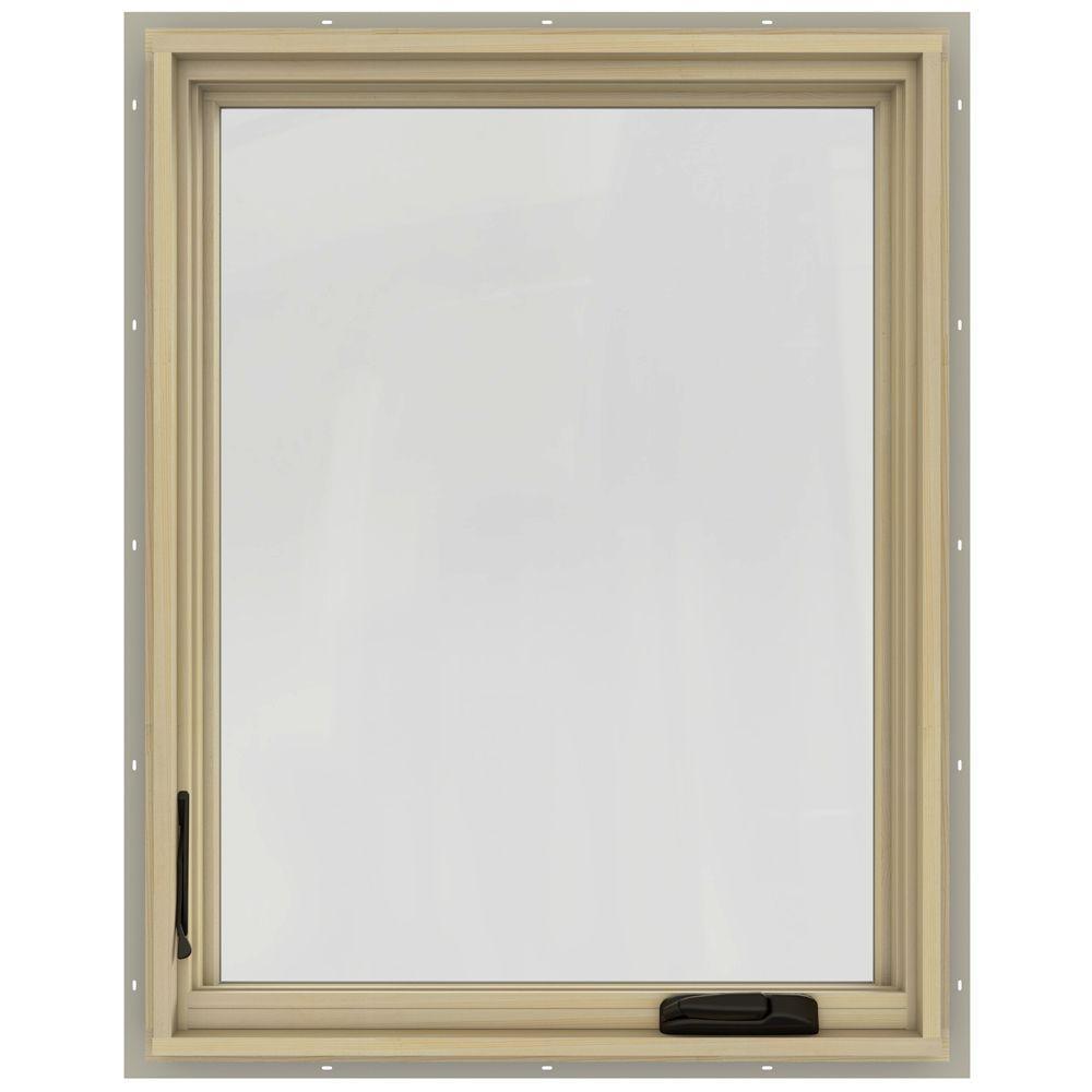 30.75 in. x 48.75 in. W-2500 Left-Hand Casement Wood Window