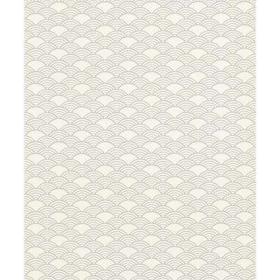 56.4 sq. ft. Rapin Off-White Wave Wallpaper