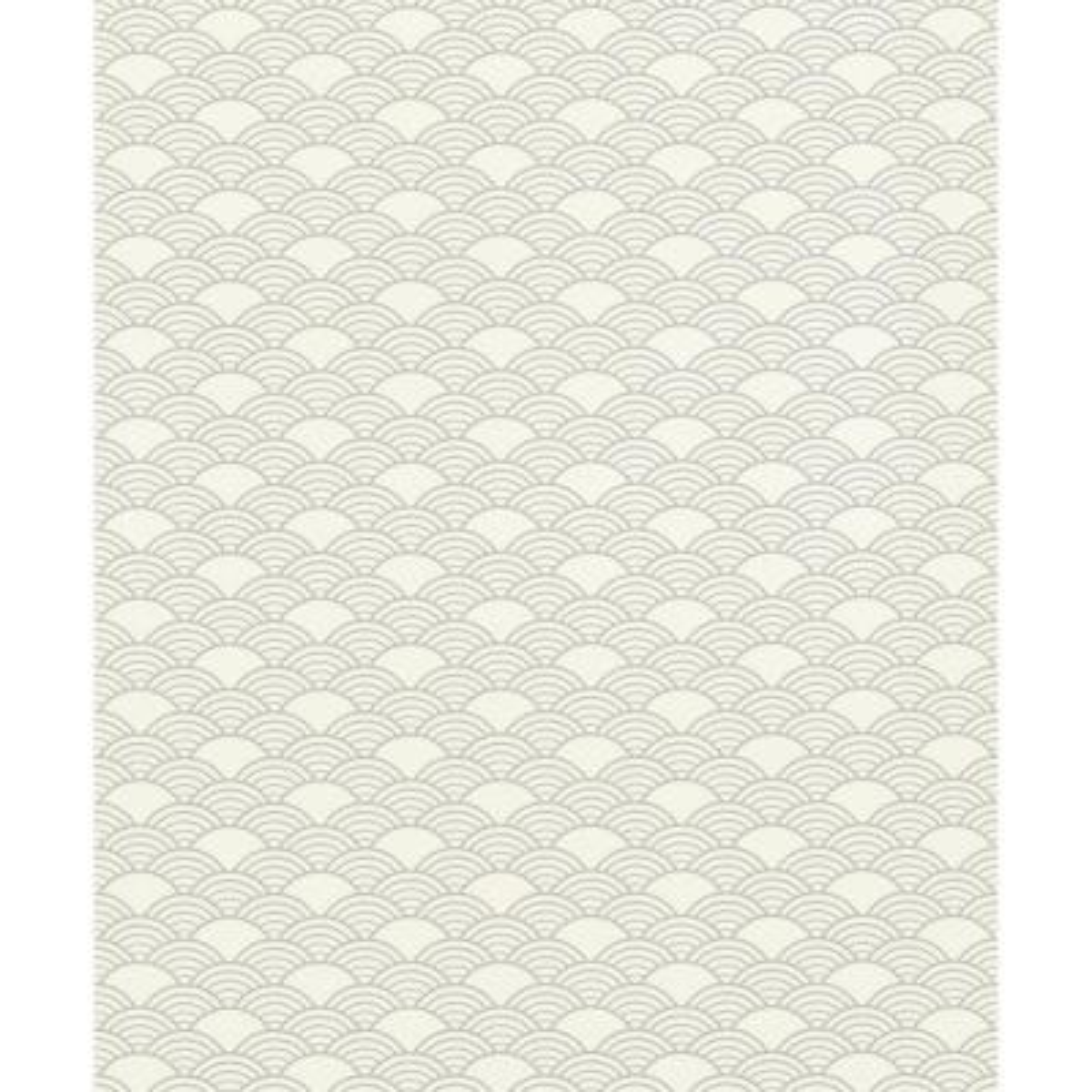 8 in. x 10 in. Rapin Off-White Wave Wallpaper Sample