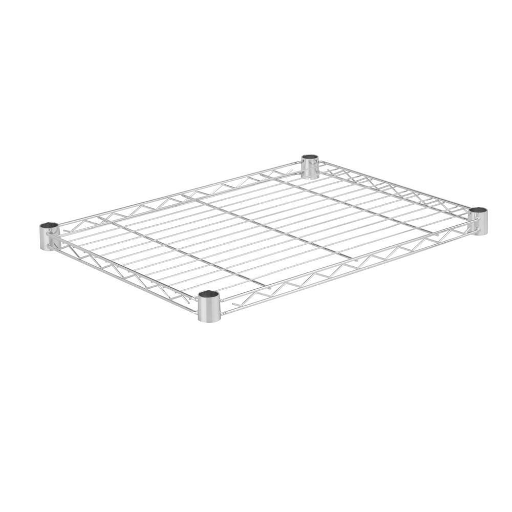 24 in. W x 18 in. D 350 lbs. Steel Shelf in Chrome
