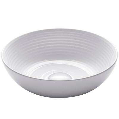 Viva 13 in. Round Porcelain Ceramic Vessel Sink in White