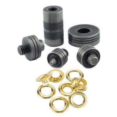 Brass Grommet Fastening Kit with Case, Includes (6) 1/2 in. and (6) 3/8 in. Grommets