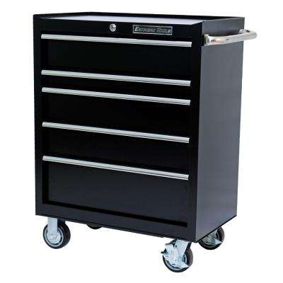 30 in. 5-Drawer Standard Roller Cabinet Tool Chest in Textured Black