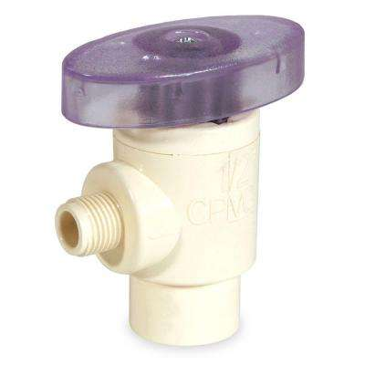 1/2 in. x 1/4 in. OD CPVC CTS Angle Supply Valve