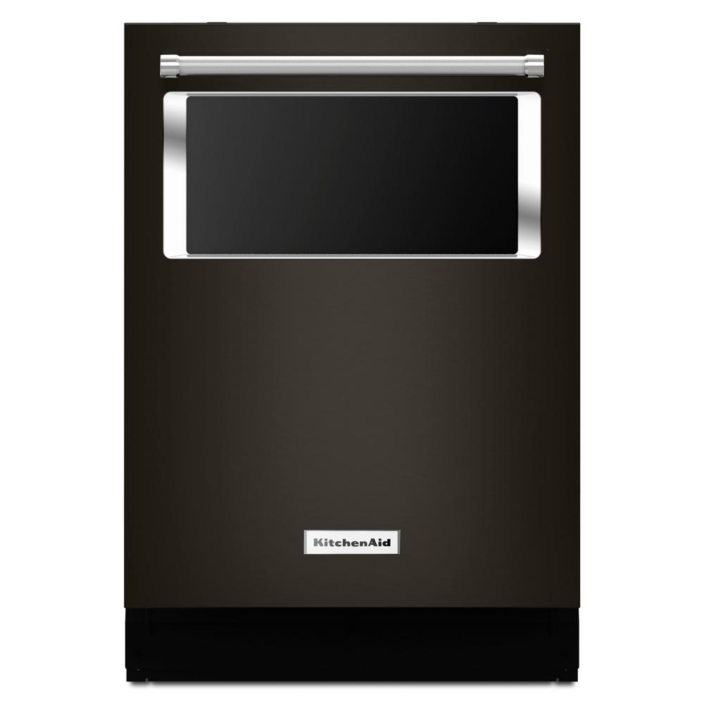 Kitchenaid Bold Black Stainless: KitchenAid Top Control Dishwasher With Window In Black