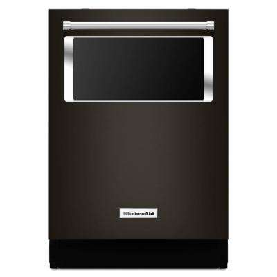 Top Control Dishwasher with Window in Black Stainless with Stainless Steel Tub