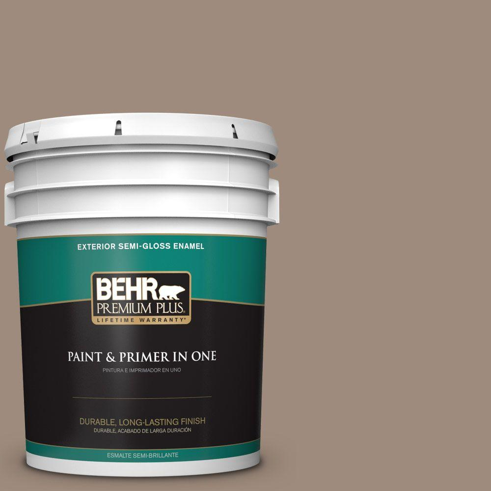 5-gal. #BXC-49 Smokey Tan Semi-Gloss Enamel Exterior Paint