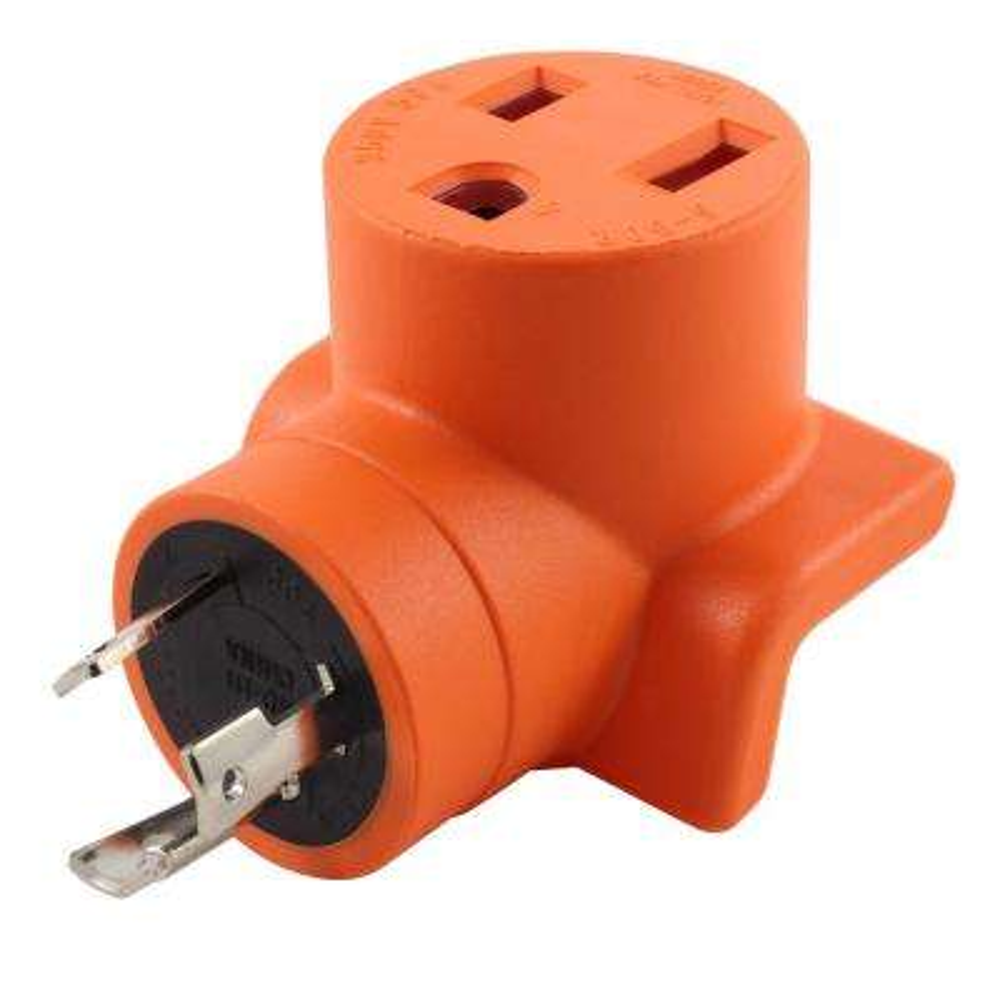 AC Connectors L6-30P 30 Amp 250-Volt Locking Plug to 6-50 Welder Connector