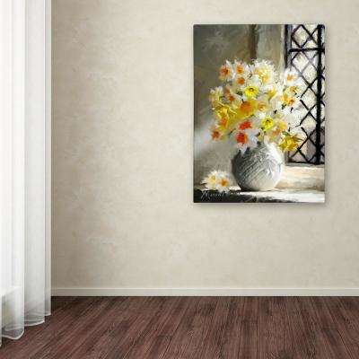 "47 in. x 35 in. ""Daffodils At Window"" by The Macneil Studio Printed Canvas Wall Art"