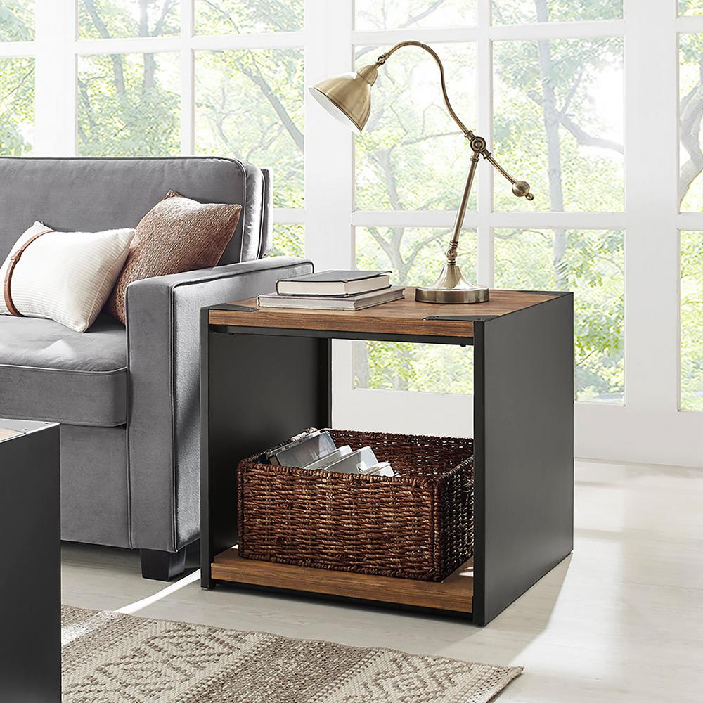 Merveilleux Walker Edison Furniture Company Rustic Wood Storage Side Table