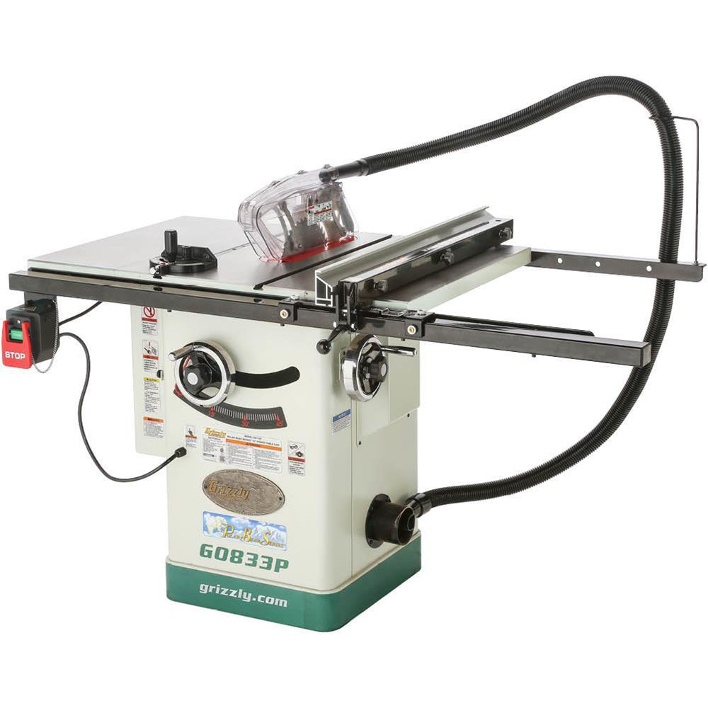 Grizzly Industrial 10 in. 2 HP 230-Volt Hybrid Table Saw with Ri-Volting Knife Polar Bear Series