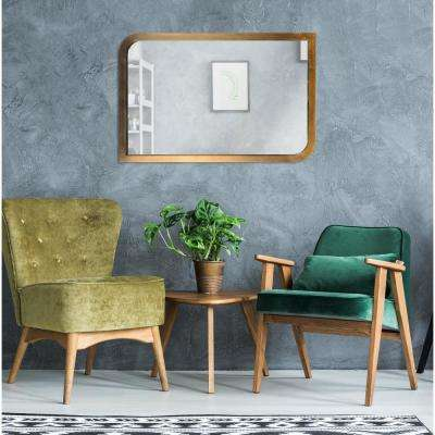 Swoop Rectangular Brass Wall Mirror