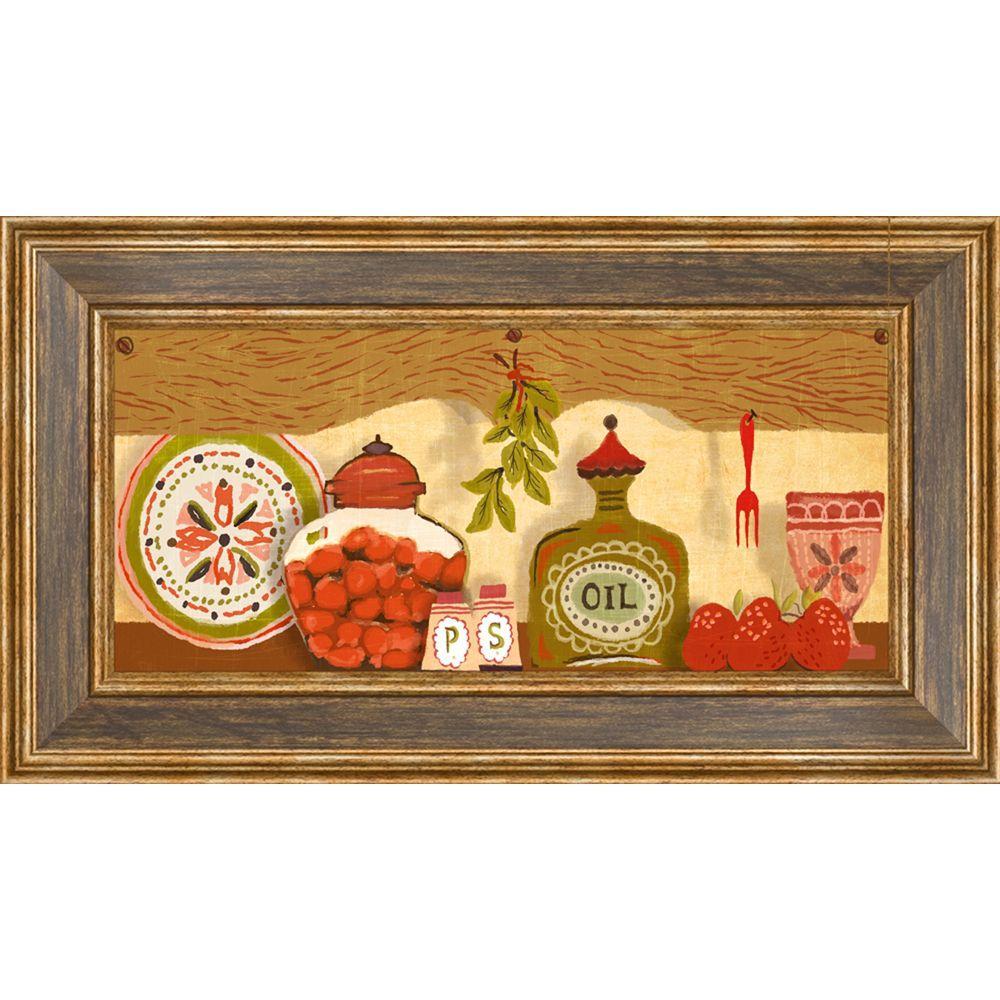 """18.5 in. x 10.5 in. """"Kitchen Shelf A"""" Framed Wall Art"""
