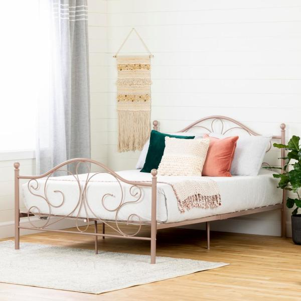 South Shore Country Poetry Pink Blush Full Bed 12159