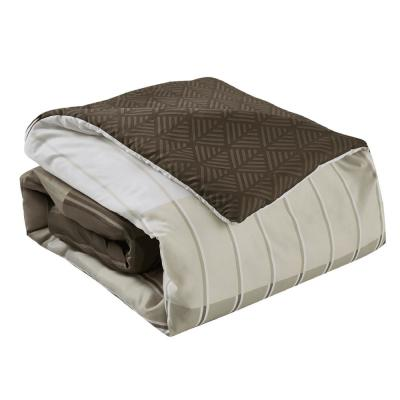 Ombre 8-Piece Taupe Full Bed in a Bag Set