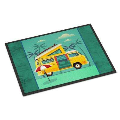18 in. x 27 in. Indoor/Outdoor Greatest Adventure Camper Van Door Mat