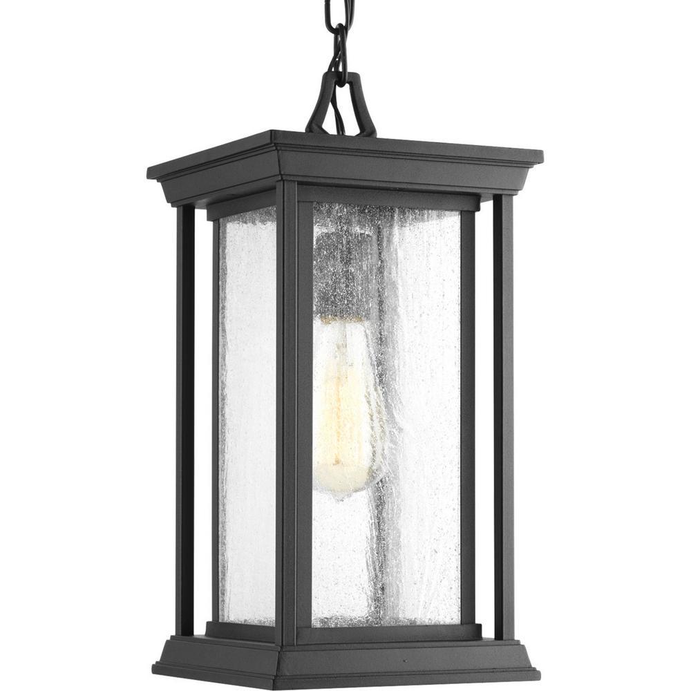 Progress Lighting Endicott Collection Black 1-Light Outdoor Hanging Lantern