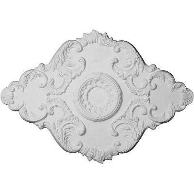 37 in. W x 26 in. H x 1-3/8 in. Piedmont Ceiling Medallion