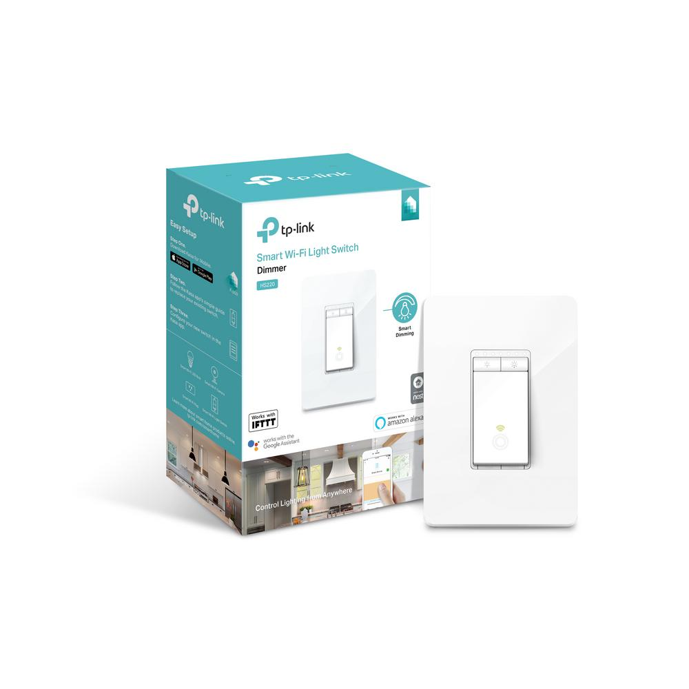 TP-LINK Smart Wi-Fi Light Switch Dimmer-HS220 - The Home Depot