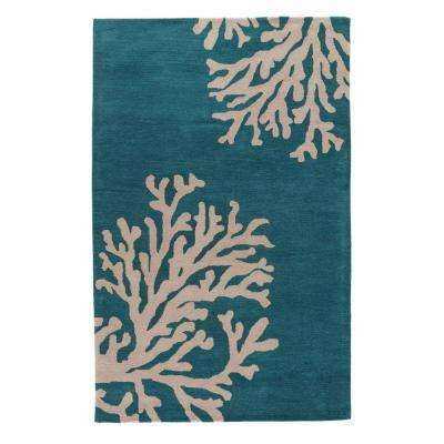 Atlantic Deep 4 ft. x 6 ft. Abstract Area Rug