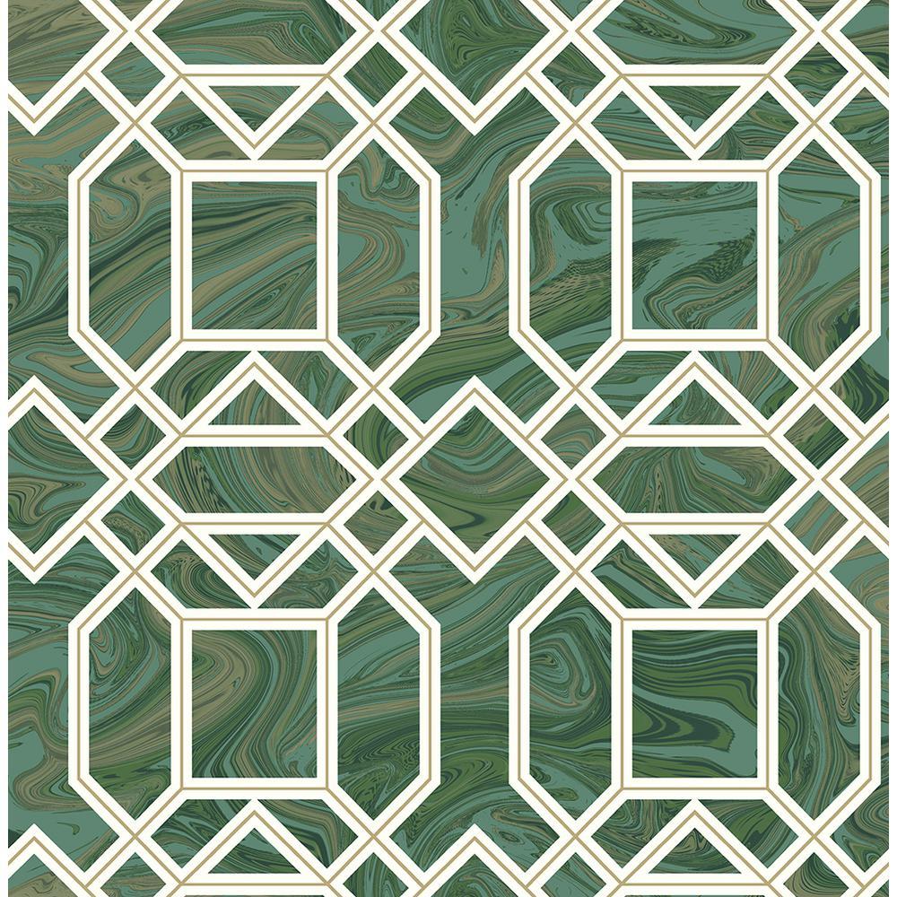 Daphne Green Trellis Wallpaper