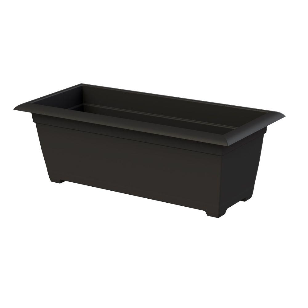 Dayton 27 in. x 9 in. Black Plastic Window Box