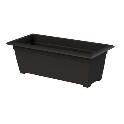 9.30 in. x 26.80 in. Black Plastic Window Box