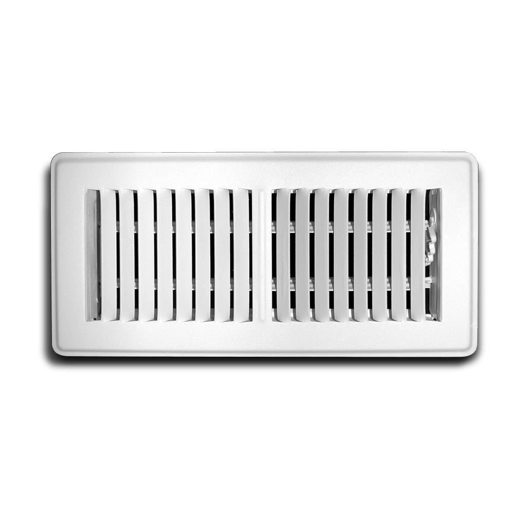 Everbilt 4 in. x 12 in. White Floor Diffuser