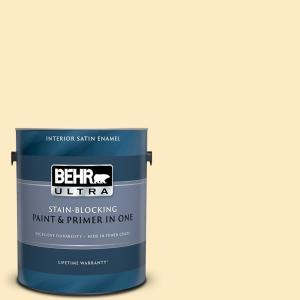 Behr Ultra 5 Gal P260 2 Yogurt Eggshell Enamel Interior Paint And Primer In One 275005 The Home Depot