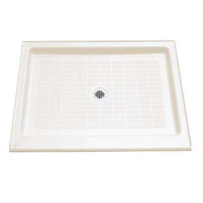 Purist 48 in. x 36 in. Single-Threshold Shower Base in White