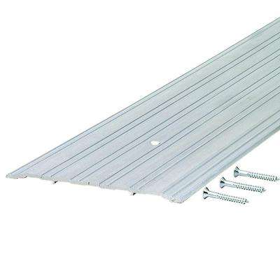 Fluted Saddle 6 in. x 77 in. Aluminum Commercial Threshold
