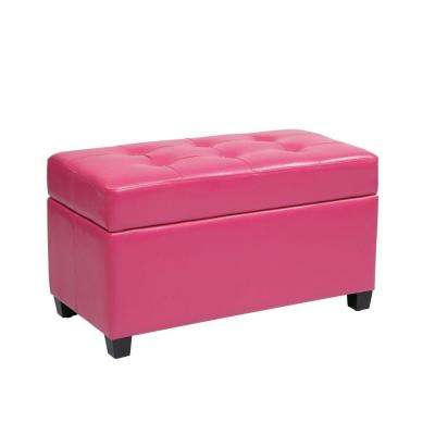 Modern - Faux Leather - Pink - Living Room Furniture - Furniture ...