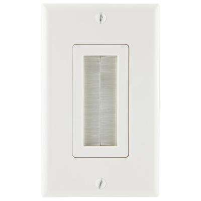 Ultra Pro 1 Brush White Wall Plate