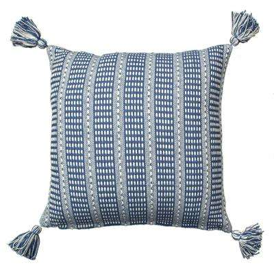 LR07310 Blue 18 in. x 18 in. Decorative Pillow