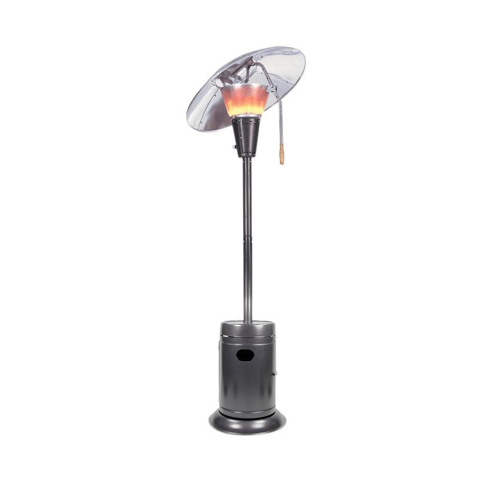 Mirage 38,200 BTU Slate Heat-Focusing Gas Patio Heater - Mirage 38,200 BTU Slate Heat-Focusing Gas Patio Heater-HDMirage16S