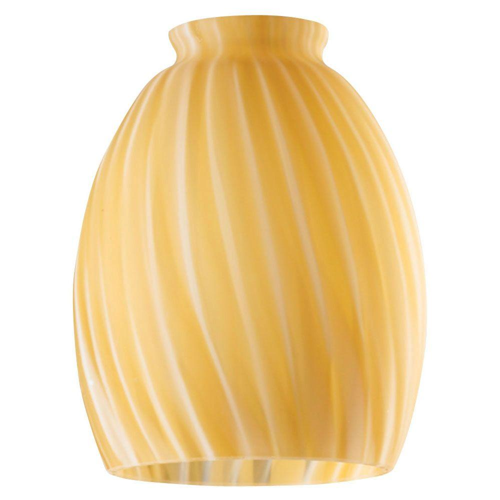 5-3/4 in. Handblown Spice Swirl Shade with 2-1/4 in. Fitter and