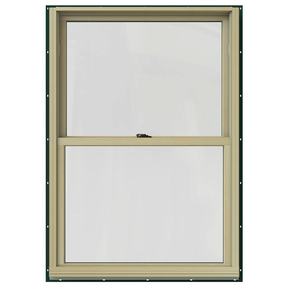 Jeld wen in x in w 2500 double hung clad for Double hung replacement windows reviews