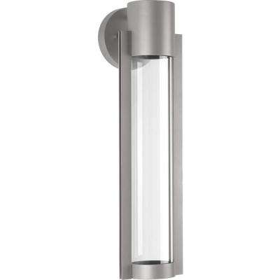 Z-1030 Collection 1-Light Metallic Gray 20 in. Outdoor Integrated LED Wall Lantern Sconce