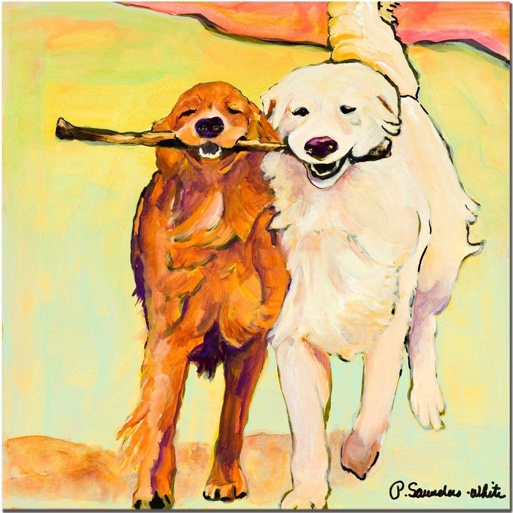 "Trademark Fine Art 24 in. x 24 in. ""Stick with Me"" Canvas Art"