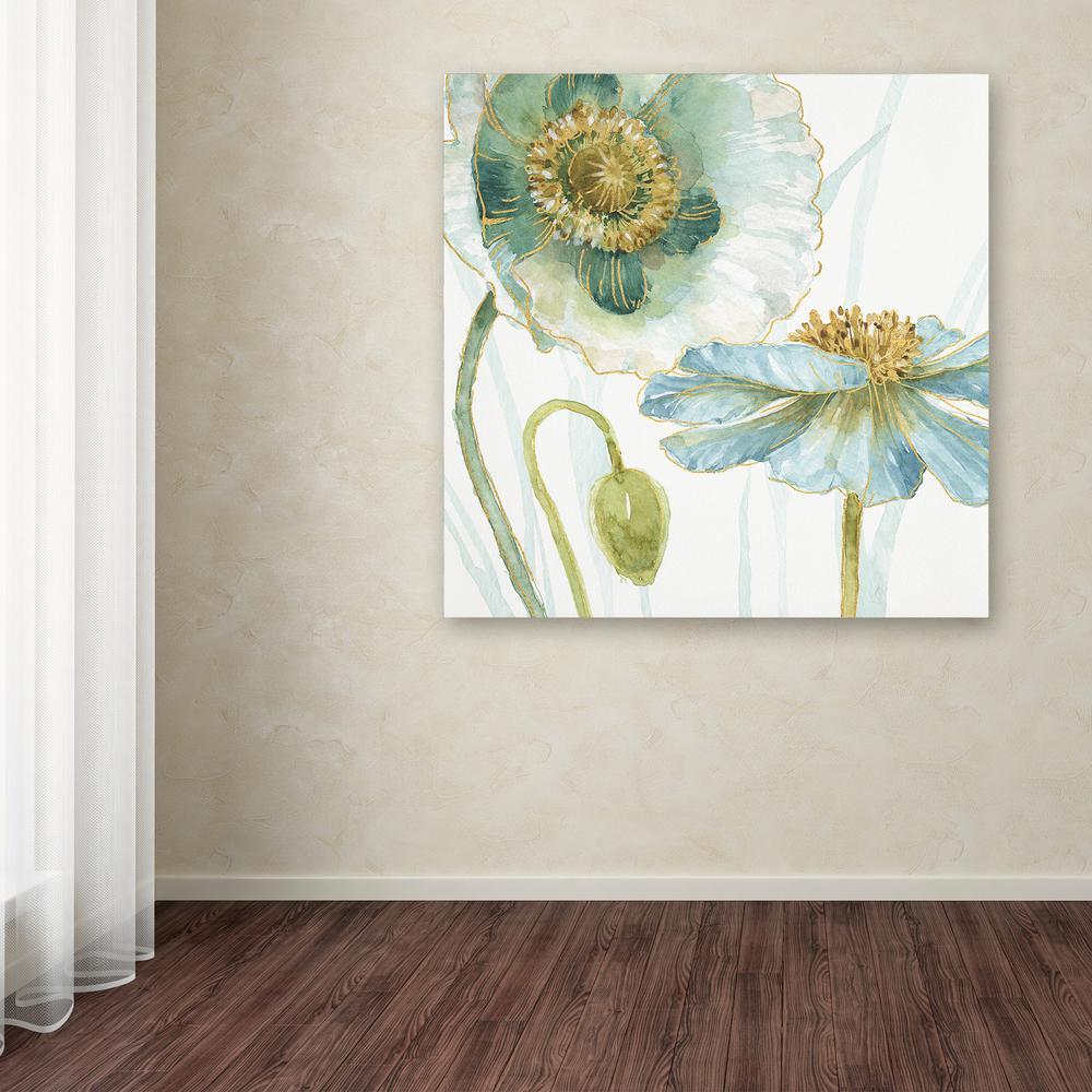 Trademark Fine Art 18 in. x 18 in. ''My Greenhouse Flowers