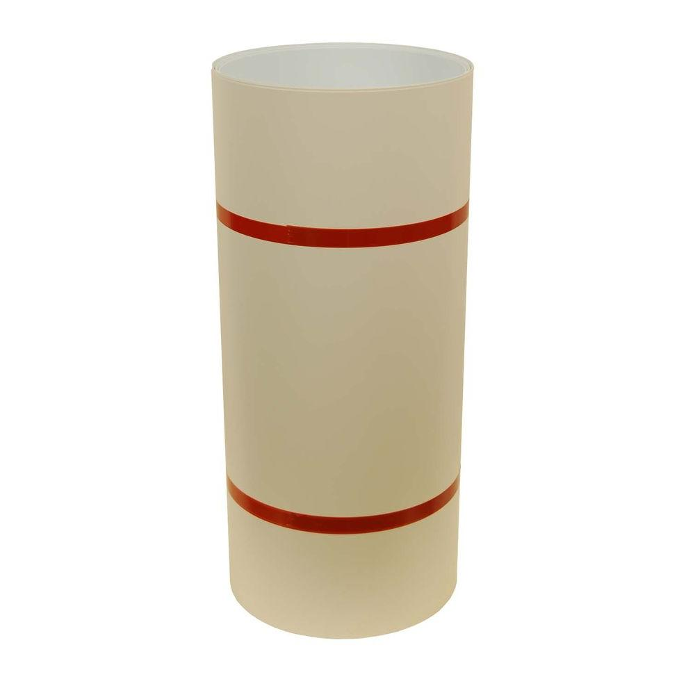 24 in. x 50 ft. Heritage Cream and White Aluminum Trim