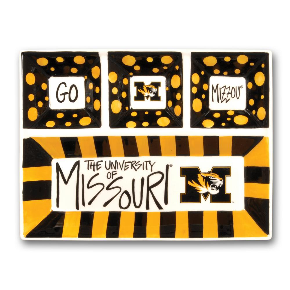 Missouri Ceramic 4 Section Tailgating Serving Platter