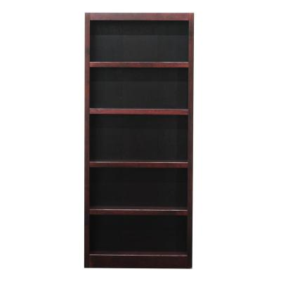 Midas Wood Bookcase, 5 Shelves, 72 in. H, Cherry Finish