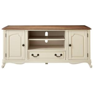 Deals on Provence 60 in. Ivory Wood TV Stand For TVs Up to 55 in