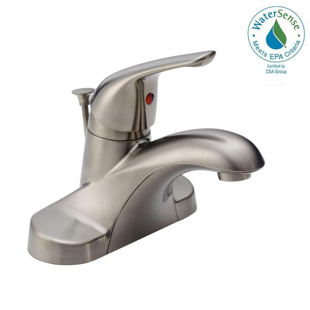Delta Foundations 4 in. Centerset Single-Handle Bathroom Faucet with ...
