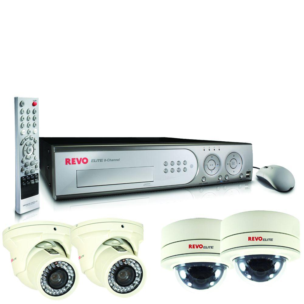 Revo Elite 8-Channel 1TB Hard Drive Surveillance System with (4) 600 TVL Cameras-DISCONTINUED